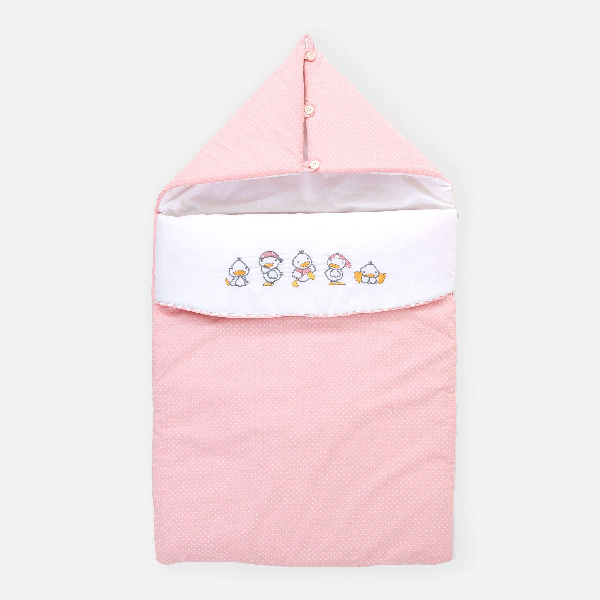 Ducks Pink Reissupussi, 45x80 cm