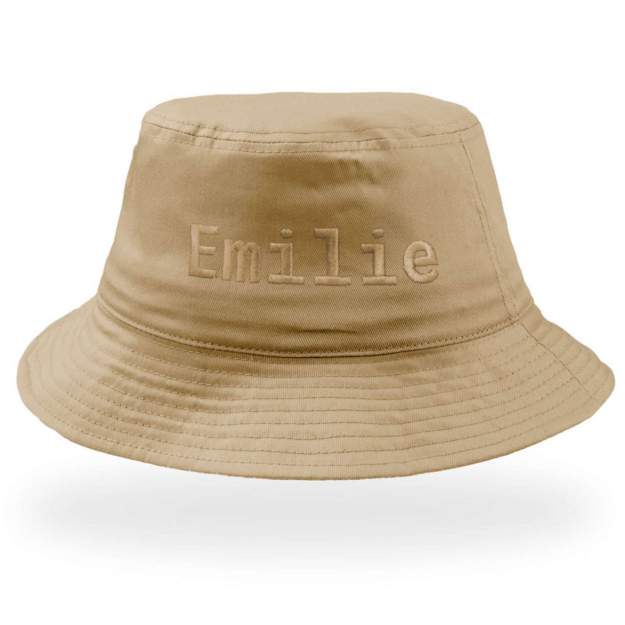 Bucket Cotton Kalastajanhattu isolla brodeerauksella
