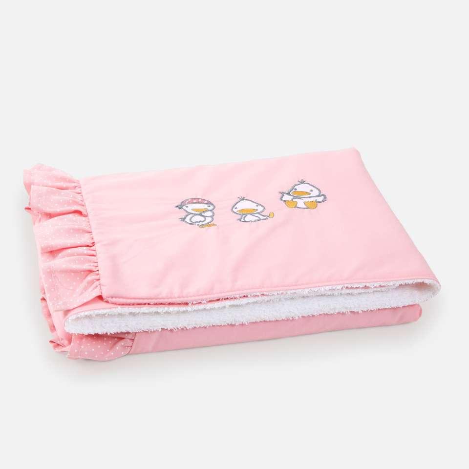 Ducks Pink Vauvan peitto, 85x65 cm