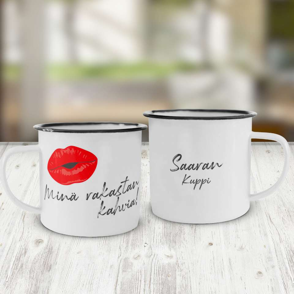 Emalikuppi, Minä rakastan kahvia