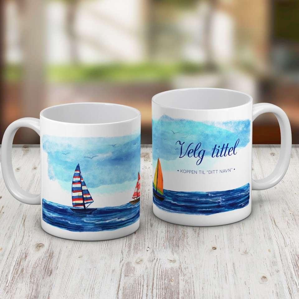 Kaffekrus med nautisk motiv