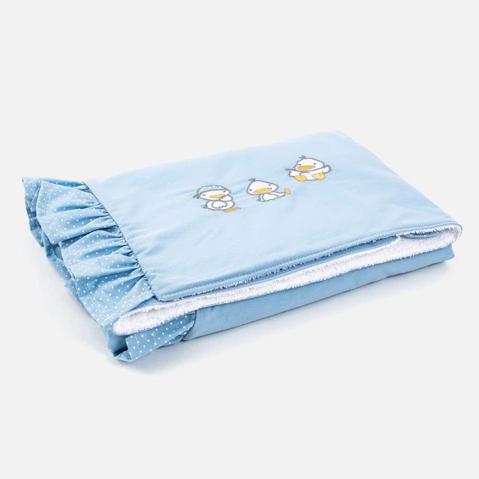 Ducks Blue Vauvan peitto, 85x65 cm