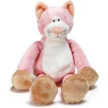 Uskomattoman söpö vaaleanpunainen lelukissa,