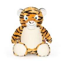 Erittäin söpö Cubbies Tiikeri-nallekarhu  Tosi kiva lahja esim. lapsenlapsille, erityisesti nimikoinnilla ja lapsen syntymäpäivä, kastepäivä tai jokin muu henkilökohtainen päivä brodeerattuna nallen vatsaan.   Ja koska nalle istuu, nimi ja päiväys ovat aina hienosti näkyvissä.